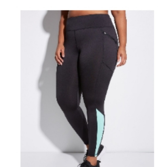 f857f28cca67a7 Lane Bryant Pants | Wicking Brushed Active Leggings With Zip Pockets ...